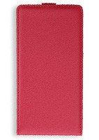 Pokrowiec z klapką posiadające zapięcie na magnes etui czerwone do HUAWEI ASCEND G8