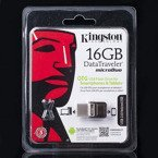 MICROUSB PENDRIVE KINGSTON 16GB OTG USB 2.0 DTDUO