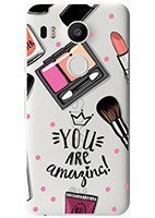 Pokrowiec na tył Kreatui Stickers Fashion etui z nadrukiem do LG GOOGLE NEXUS 5X